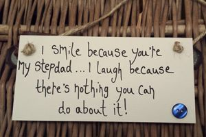 Birthday Gifts I Smile Because Youre My Step Dad Button Plaque