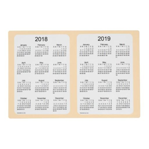 2018-2019 Wheat Laminated Calendar by Janz Placemat