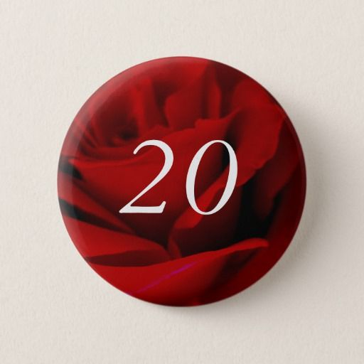 Birthday Gifts Ideas 20th Button