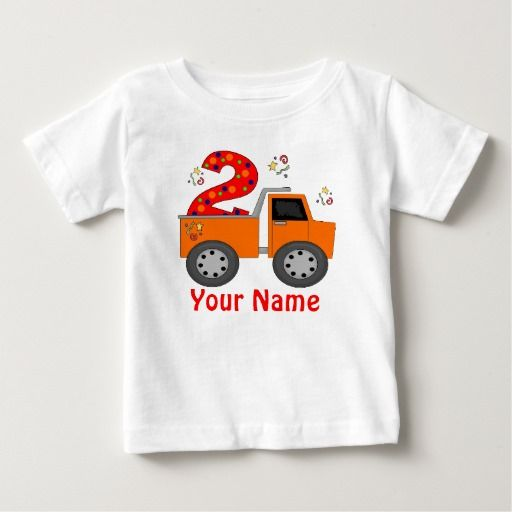Birthday Gifts Ideas 2nd Dump Truck Personalized T Shirt