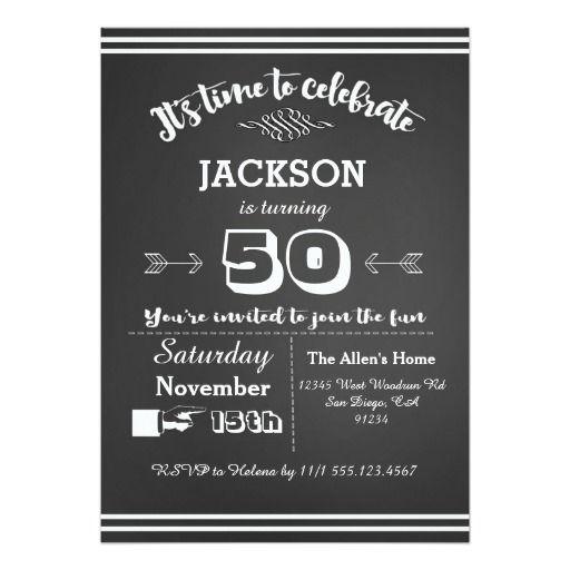 Adult Birthday Party Invitation 50th, 60th, 40th