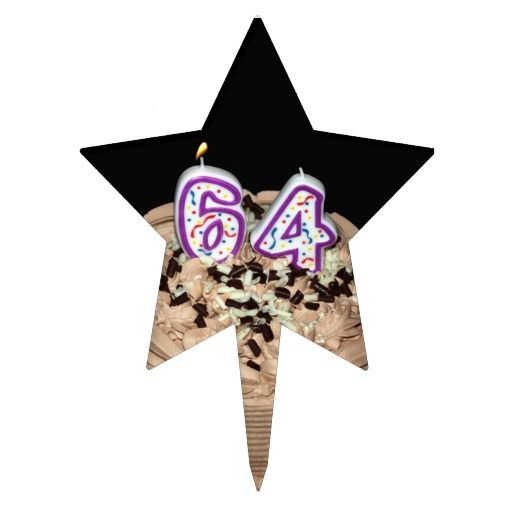 Birthday Gifts Ideas Almost 64 64th Cake Topper