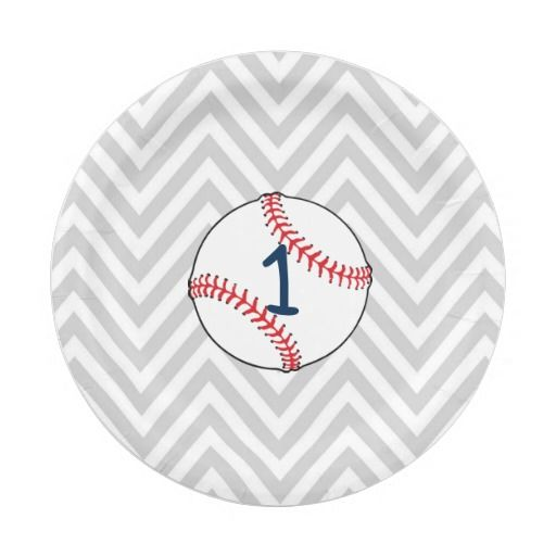 Birthday Gifts. Baseball Theme First Birthday Paper Plates  sc 1 st  GiftsDetective.com : baseball paper plates - pezcame.com