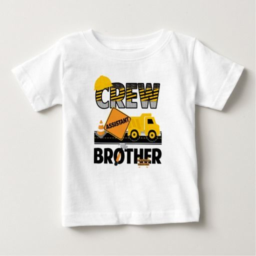 Birthday Gifts Ideas Construction Sibling Shirt Dump Truck Baby T