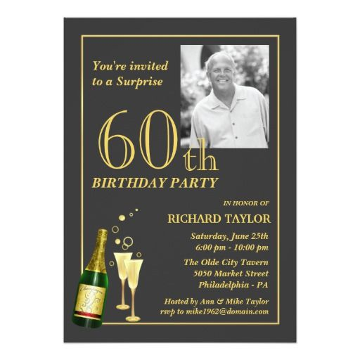 Birthday Gifts Ideas Customized 60th Party Invitations