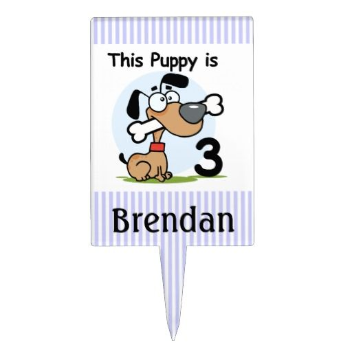 Birthday Gifts Customized Puppy Dog 3rd Cake Topper