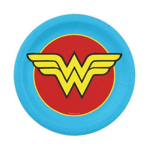 DC Comics   Wonder Woman Logo   Happy Birthday Paper Plate