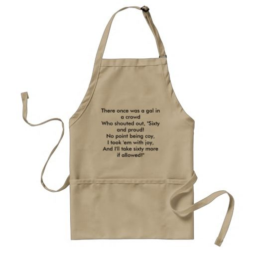 Birthday Gifts Ideas Funny 60th Limerick Gift Apron