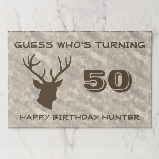 Funny Buck Head / Camo Birthday Party Celebration Paper Placemat