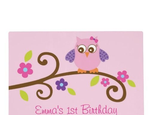 Birthday Gifts Ideas Girl Owl Placemat