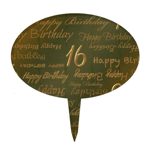 Birthday Gifts Ideas Happy 16th Weathered Brass Cake