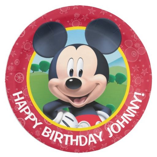Birthday Gifts. Mickey Mouse Birthday Paper Plate  sc 1 st  GiftsDetective.com & Birthday Gifts Ideas : Mickey Mouse Birthday Paper Plate ...