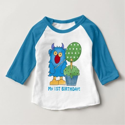 Birthday Gifts Ideas Monster Baby First T Shirt