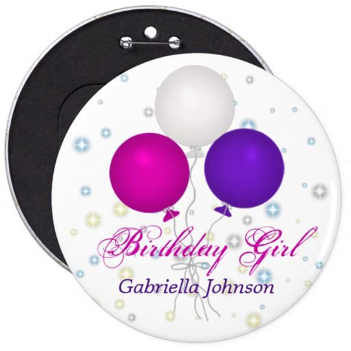 Birthday Gifts Ideas Personalized Girl Button