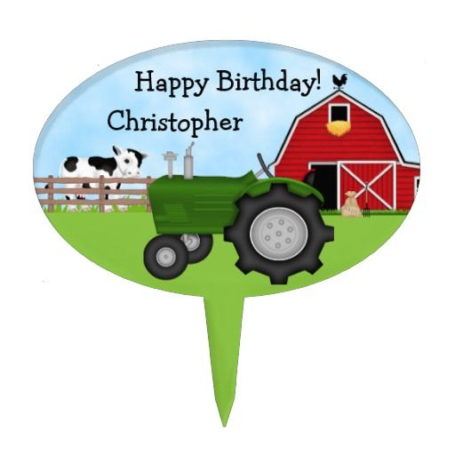 Birthday Gifts Ideas Personalized Tractor And Barn Cake