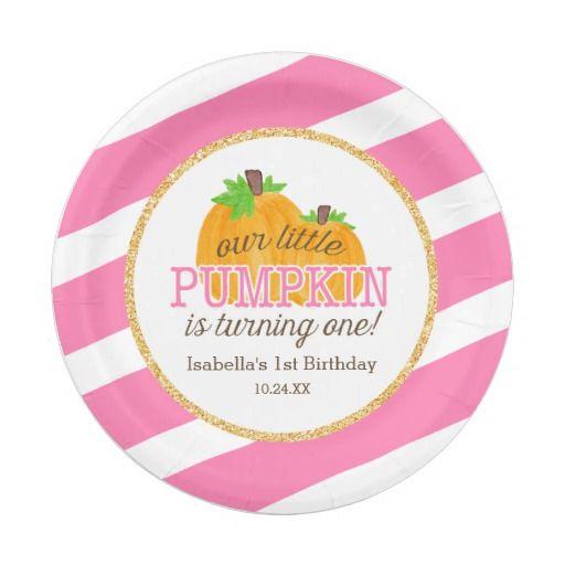Birthday Gifts Ideas Pink Gold Little Pumpkin Girl First