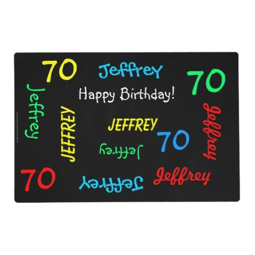Placemats, 70th Birthday, Repeating Names Placemat