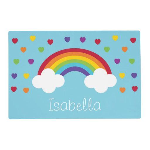 Rainbow 1st Birthday Placemat