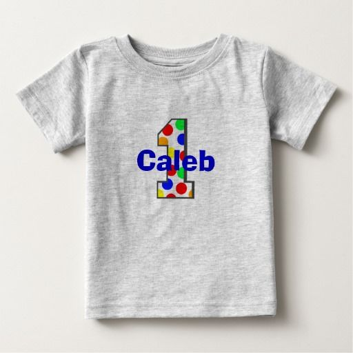 Birthday Gifts Ideas Rainbow Polka Dots First Shirt