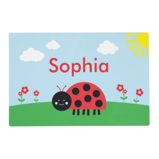 Red Ladybug Personalized Placemat