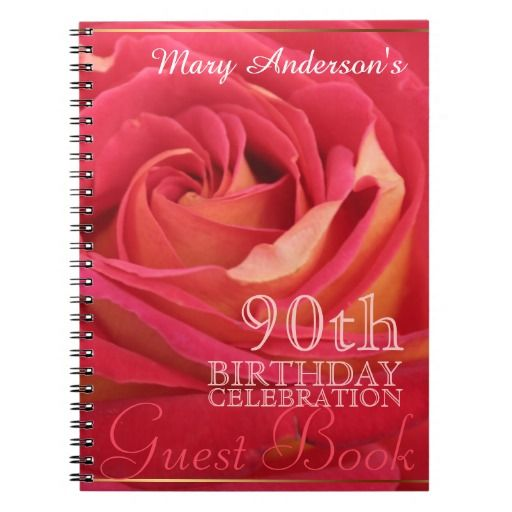 Birthday Gifts Ideas Rose 90th Celebration Custom Guest