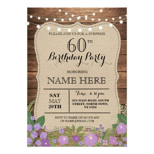 Birthday Gifts Ideas SURPRISE 60th Any Age Party Wood