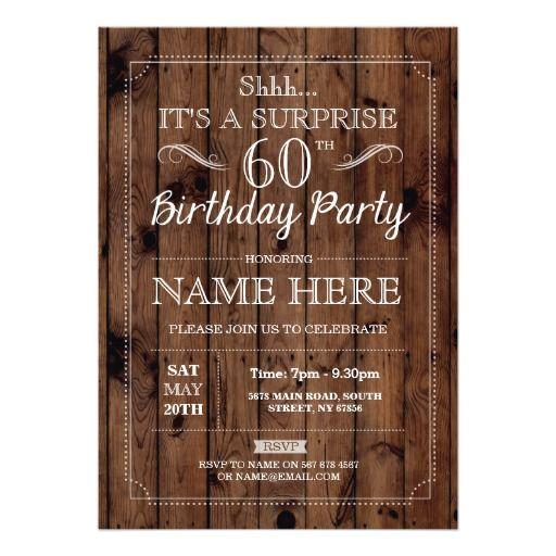 60 invitations birthday