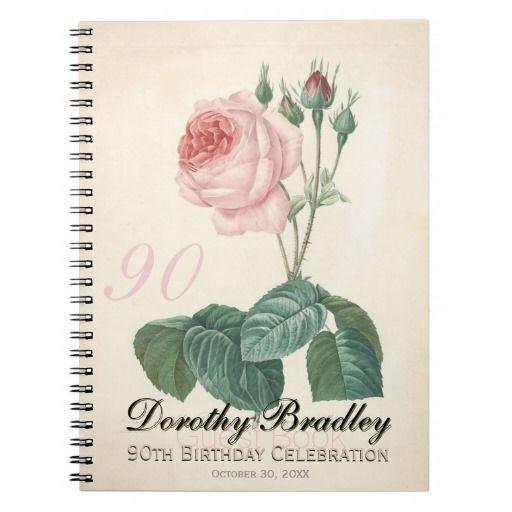 Birthday Gifts Ideas Vintage Rose 90th Celebration