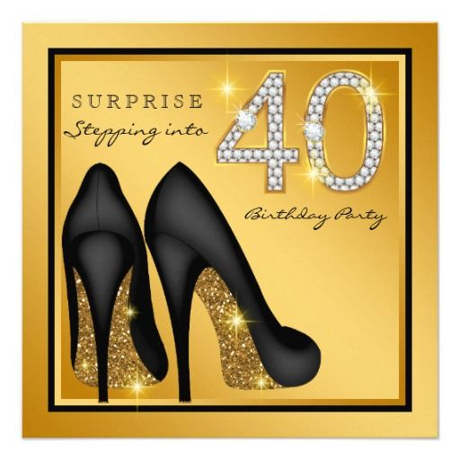 Birthday Gifts Ideas Womans Surprise 40th Party Card