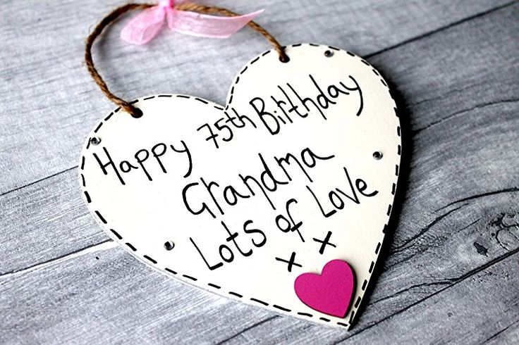 Birthday Gifts MadeAt94 75th Heart Grandma Handmade