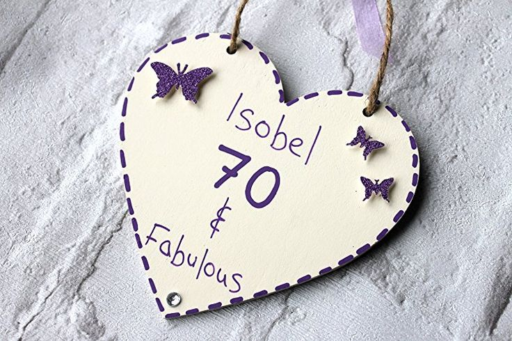 Birthday Gifts MadeAt94 Customized 70th Birthday Gift Heart Mom