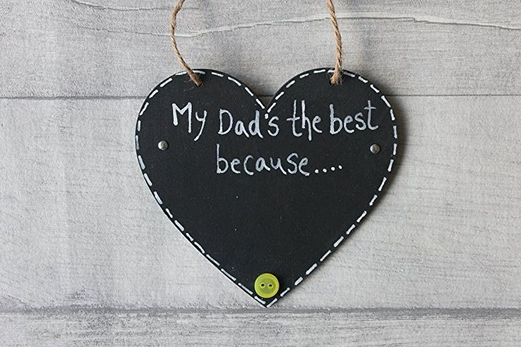 MadeAt94 Dad Father's Day Birthday Gift Sign Chalkboard Heart Daddy Present