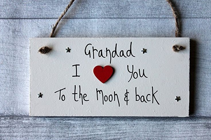 MadeAt94 Gift For Grandad I Love You To The Moon And Back Gift Sign Personalized...