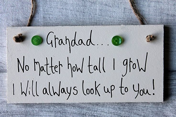 MadeAt94 Gift For Grandad No Matter How Tall I grow Gift Sign Personalized