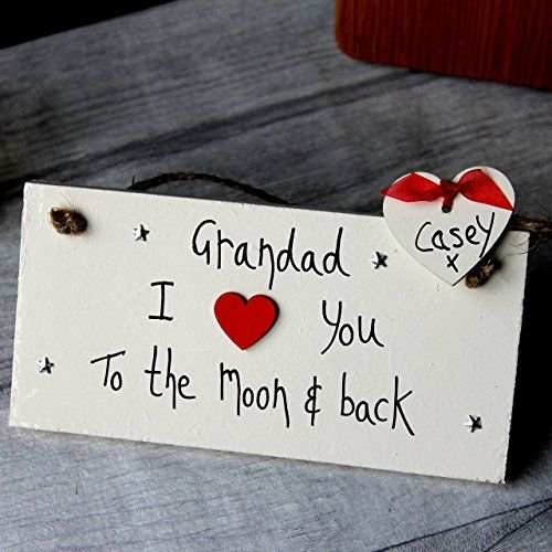 MadeAt94 Grandad I LoveYou To The Moon And Back Father's Day and Birthday Gi...