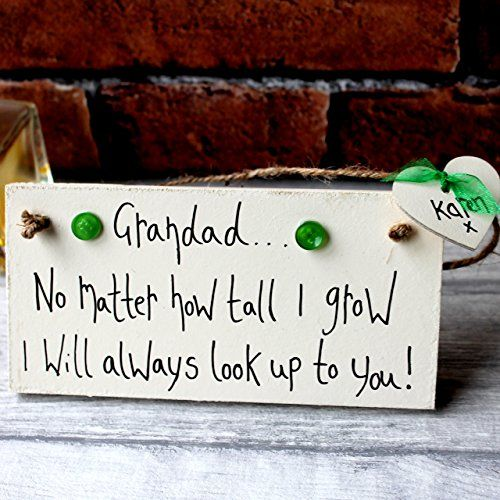 MadeAt94 Grandad No Matter How Tall I Grow Father's Day and Birthday Gift Si...