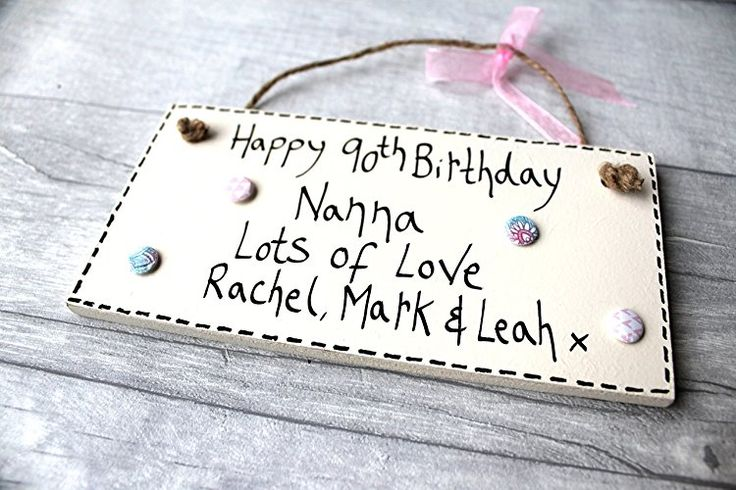 Birthday Gifts MadeAt94 Handmade 90th Nanna Plaque