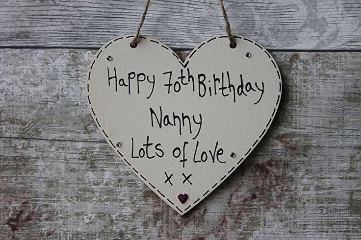 Birthday Gifts MadeAt94 Handmade Gift Heart Plaque Happy 70th
