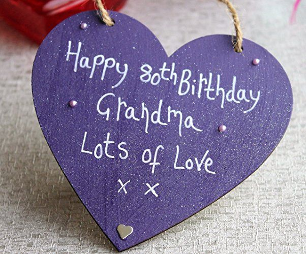 Birthday Gifts MadeAt94 Handmade Gift Purple Heart Plaque Happy