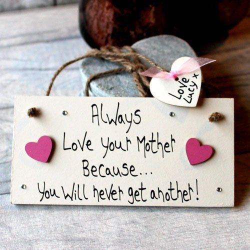 Birthday Gifts MadeAt94 Handmade Love Your Mother Gift Sign