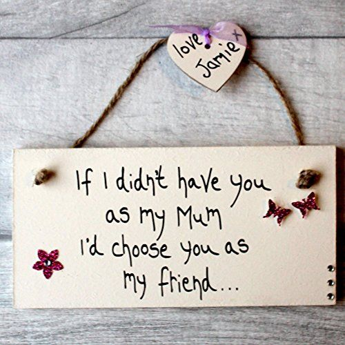 MadeAt94 Handmade Mom Friend Gift Sign for Birthday and Mother's Day Persona...