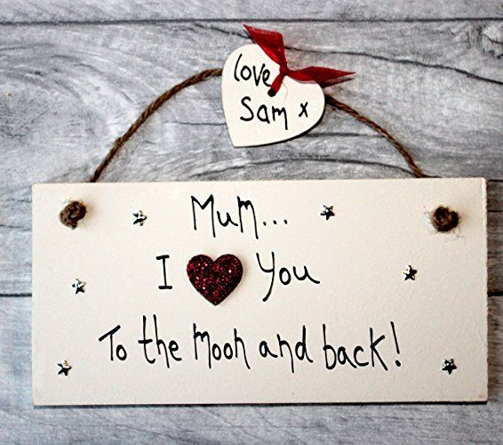 MadeAt94 Handmade Mom Gift Sign Personalized for Mother's Day