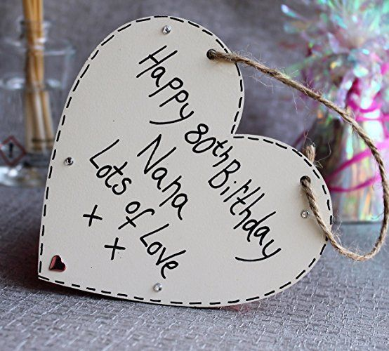 Birthday Gifts MadeAt94 Handmade Personalised Gift Heart Plaque