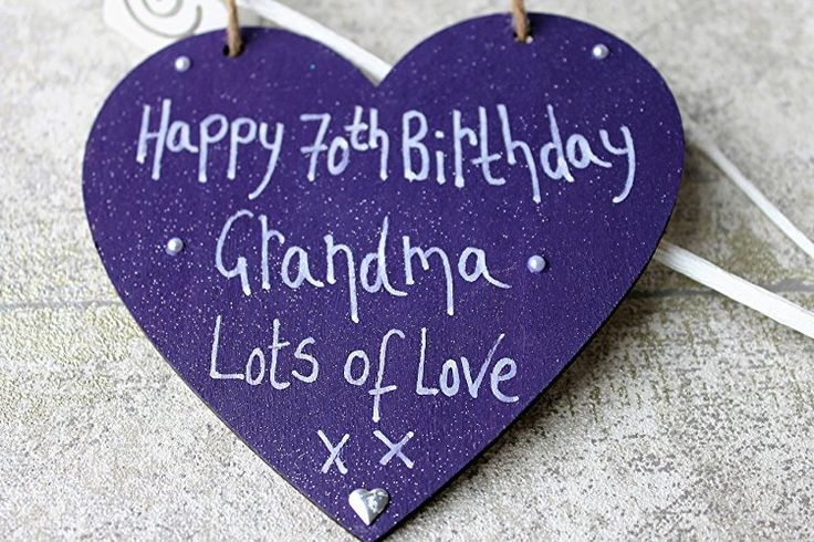 Birthday Gifts MadeAt94 Handmade Personalised Gift Purple Heart