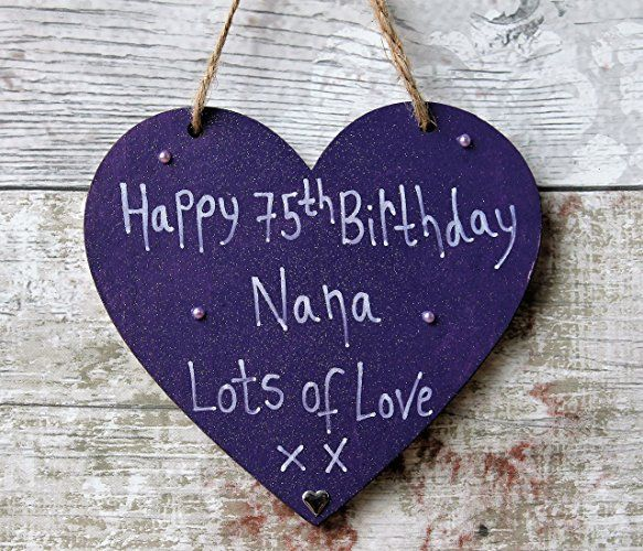 Birthday Gifts MadeAt94 Handmade Personalised Gift Purple Heart