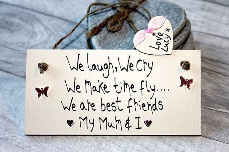 MadeAt94 Handmade Personalized Gifts for Mom Sign Mom And I