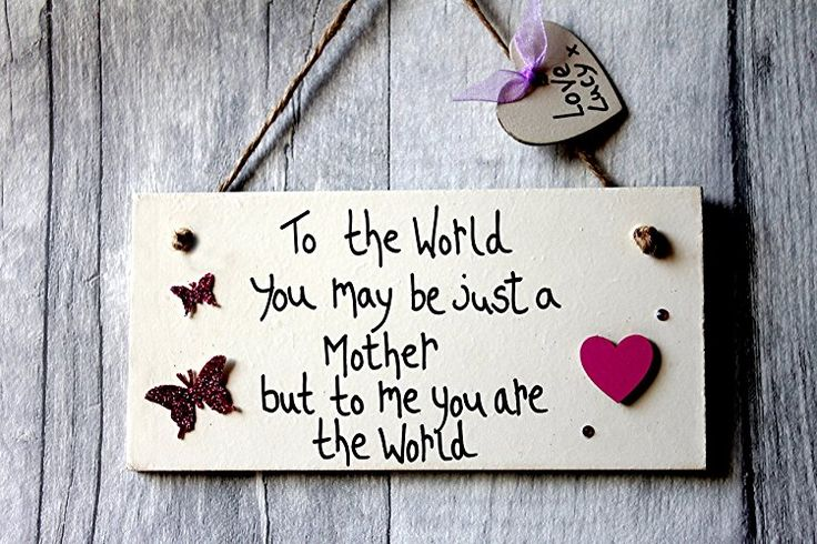 MadeAt94 Handmade Personalized Mothers Gift Plaque for Birthday Mother's Day