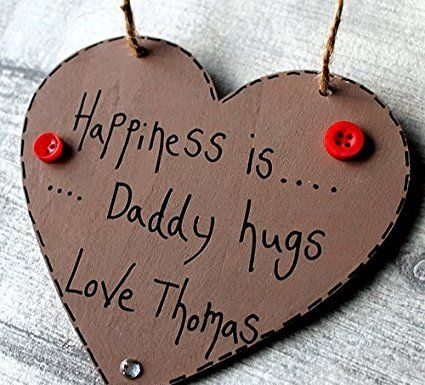 Birthday Gifts MadeAt94 Happiness Is Daddy Hugs Dad Gift Present Personalised Father