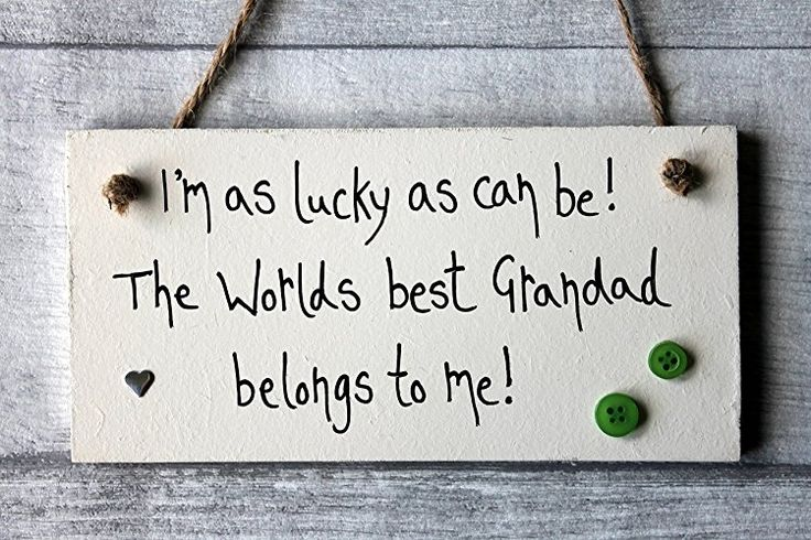 MadeAt94 Lucky As Can Be Best Grandad Father's Day and Birthday Git Sign Per...