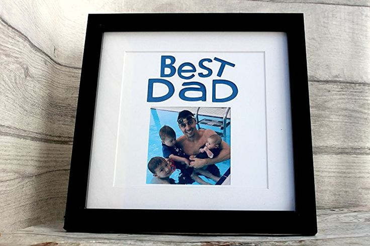 Birthday Gifts MadeAt94 Personalised Best Dad Picture Frame Gift